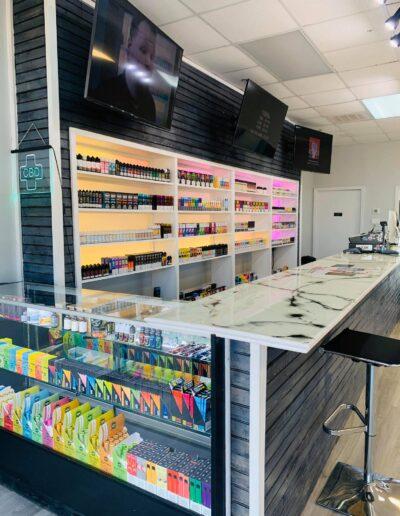 Vape Shop Counter